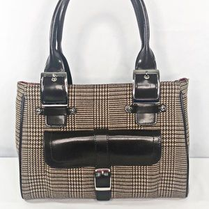 Wilson Leather Maxima Houndstooth Shoulder Bag